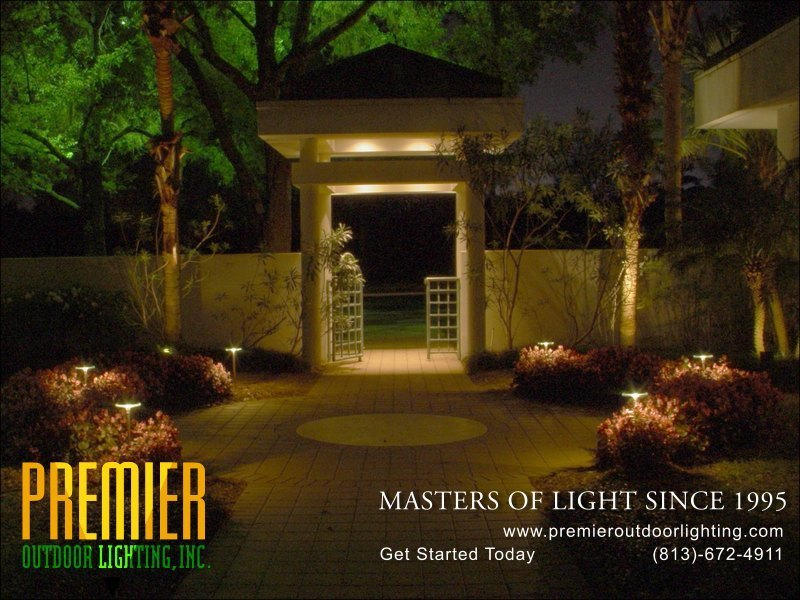 Outdoor Landscape Lighting Examples : Entry lighting photo gallery image premier outdoor